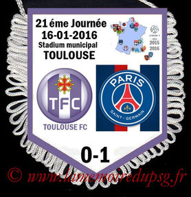 Fanion  Toulouse-PSG  2015-16