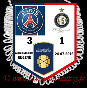 Fanion  PSG-Inter Milan  2016-17