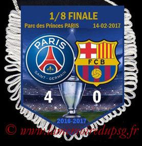 Fanion  PSG-FC Barcelone  2016-17
