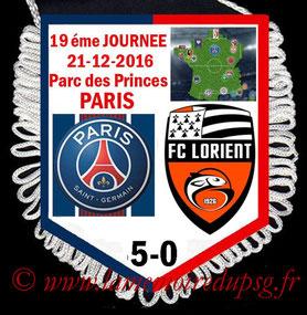 Fanion  PSG-Lorient  2016-17