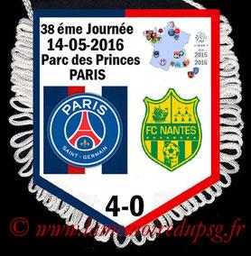Fanion  PSG-Nantes  2015-16