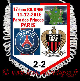 Fanion  PSG-Nice  2016-17