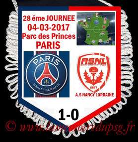Fanion  PSG-Nancy  2016-17