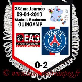 Fanion  Guingamp-PSG  2015-16