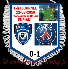 Fanion  Bastia-PSG  2016-17