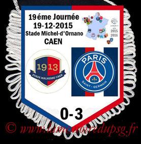 Fanion  Caen-PSG  2015-16