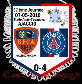 Fanion  Ajaccio-PSG  2015-16