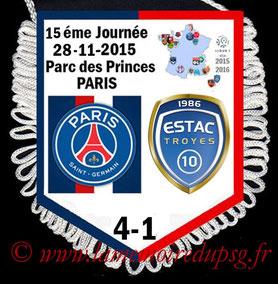 Fanion  PSG-Troyes  2015-16