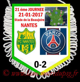 Fanion  Nantes-PSG  2016-17