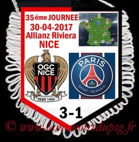 Fanion  Nice-PSG  2016-17