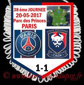 Fanion  PSG-Caen  2016-17