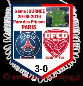 Fanion  PSG-Dijon  2016-17