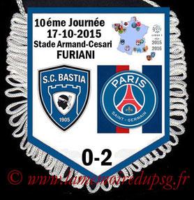 Fanion  Bastia-PSG  2015-16