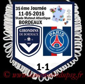 Fanion  Bordeaux-PSG  2015-16
