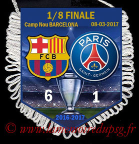Fanion  Barcelone-PSG  2016-17