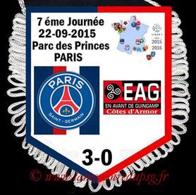Fanion  PSG-Guingamp   2015-16