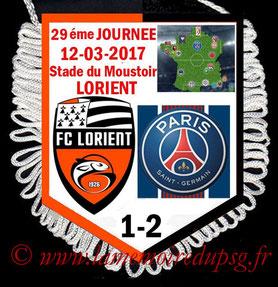 Fanion  Lorient-PSG  2016-17