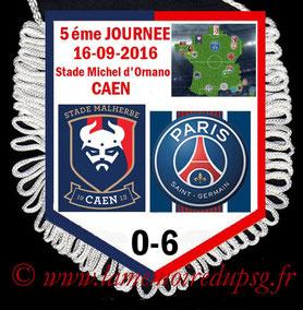 Fanion  Caen-PSG  2016-17