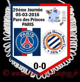Fanion  PSG-Montpellier  2015-16