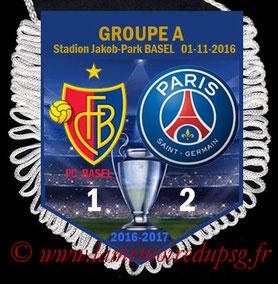 Fanion  Bâle-PSG  2016-17