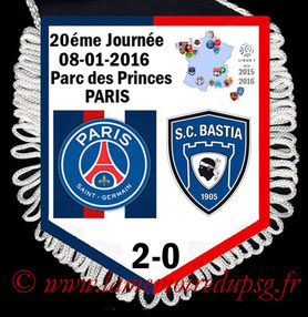 Fanion  PSG-Bastia  2015-16