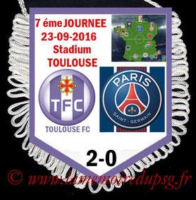 Fanion  Toulouse-PSG  2016-17