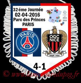Fanion  PSG-Nice  2015-16