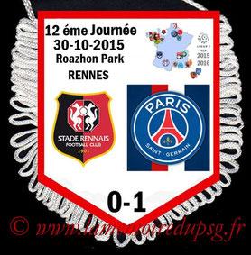 Fanion  Rennes-PSG  2015-16