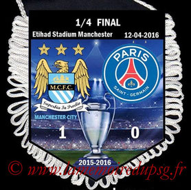Fanion  Manchester City-PSG  2015-16