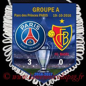 Fanion  PSG-Bâle  2016-17