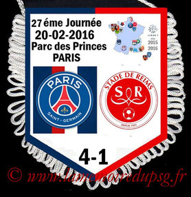 Fanion  PSG-Reims  2015-16