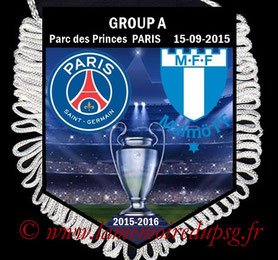 Fanion  PSG-Malmo   2015-16