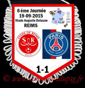 Fanion  Reims-PSG   2015-16