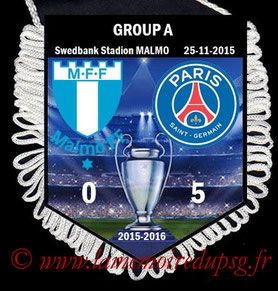 Fanion  Malmo-PSG  2015-16