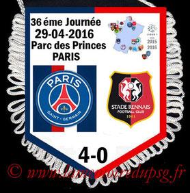 Fanion  PSG-Rennes  2015-16
