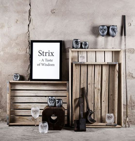 "Gläser ""Strix"" mit Eulenmotiv"
