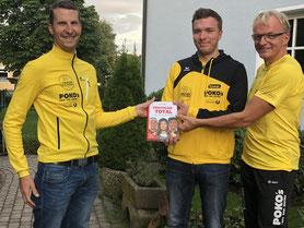 v.l.n.r. Fabio Richlan – Sportreferent, Erik Wallner – Nachwuchsreferent, Andreas Wallner – Präsident TrumerTriTeam