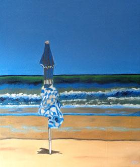 555 - parasol bleu-Cabourg, 2016