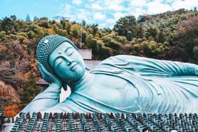 Nanzoin et son bouddha couché à Fukuoka