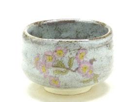九谷焼通販 おしゃれな抹茶茶碗 抹茶碗 茶道具 ソメイヨシノ 桜  正面の図