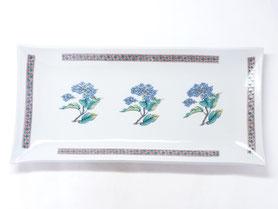 母の日 ギフト 九谷焼通販 おしゃれ 長皿 お皿 和食器 紫陽花 磁器