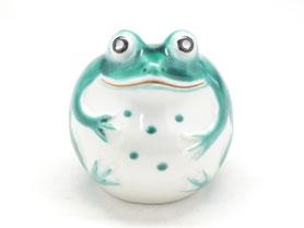 九谷焼通販 おしゃれ カエル 緑