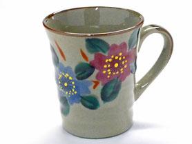 九谷焼通販 おしゃれなマグカップ マグ 和桜『裏絵』正面の図