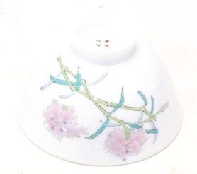 九谷焼通販 おしゃれ 飯碗 ご飯茶碗 ギフト 軽量 磁器 なでしこ