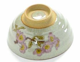九谷焼通販 おしゃれな飯碗 茶碗 ご飯茶碗 ソメイヨシノ 桜 中絵