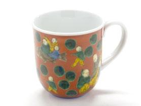 九谷焼通販 おしゃれなマグカップ マグ  磁器 木米写し 正面の図