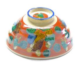 九谷焼通販 おしゃれな飯碗 茶碗 ご飯茶碗 大 木米 裏絵
