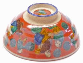 九谷焼通販 おしゃれな飯碗 茶碗 ご飯茶碗 小 木米写し『裏絵』