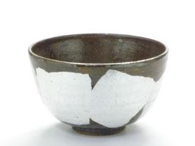 九谷焼通販 おしゃれな抹茶茶碗 抹茶碗 茶道具 白銀彩 正面の図