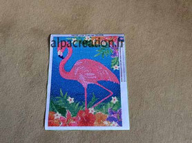 broderie diamant flamand rose